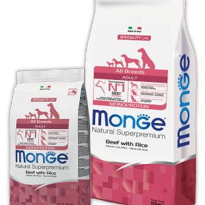 Monge Dog Monoprotein All Breeds Beef and Rice
